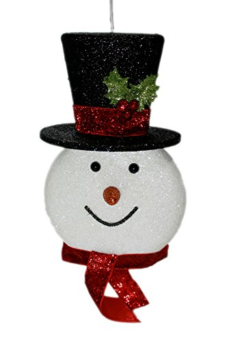 Outdoor Lighted Snowman Head - 5