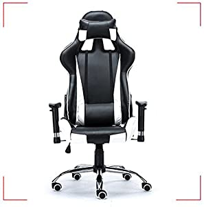 Bon Black Office Chairs Gaming Chair Racing Seats Computer Chair Rocker(item  #251240)