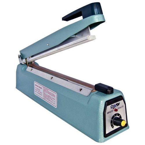 - Impulse Manual Bag Sealer Heat Seal Closer (12 Inch with 5mm seal, 110 Volt)