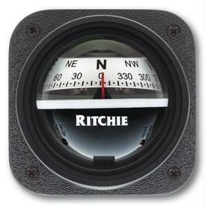 Ritchie V-537W Explorer Compass - Bulkhead Mount - White -