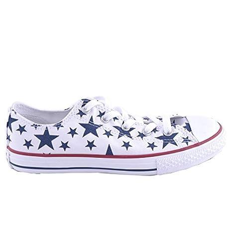f933de35c099e5 CONVERSE 648364C 27/34 white star ct print scarpe bambina all star hi  stelle unisex