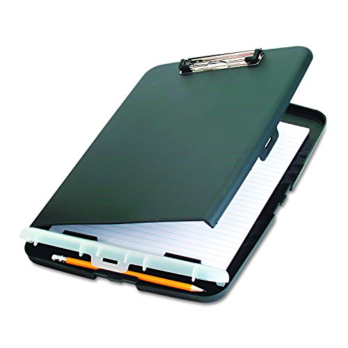 Officemate Slim Clipboard Storage Box, Charcoal - Storage Clipboard Plastic