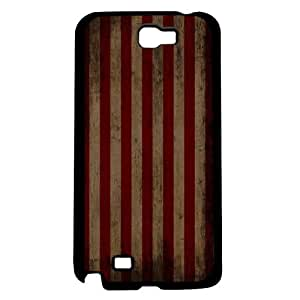 Vintage Red and Beige Stripe Background Hard Snap on Phone Case (Note 2 II)