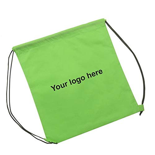 Drawstring Backpack - Lime Non-Woven Polypropylene Material GSI - 200 Quantity - $2.89 Each - Promotional Product/Bulk / with Your Customized Branding