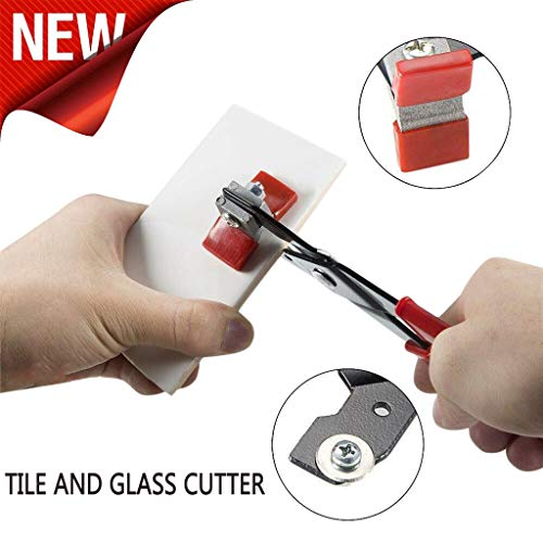 m·kvfa Amazing Tile And Glass Cutter for Ceramic Floor Mirror Stained Glass Mosaics Tile Cutters Stained Glass Porcelain Repair Tool Clamp