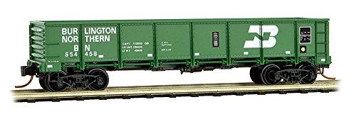Micro-Trains MTL N-Scale 40ft Drop-Bottom Gondola Burlington Northern/BN #554458 - Drop Bottom Gondola
