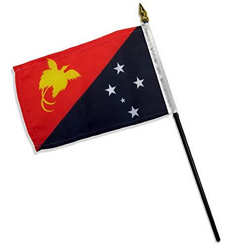Kaputar 4x6 Papua New Guinea Stick Flag Table STF Desk Table | Model FLG - 7853