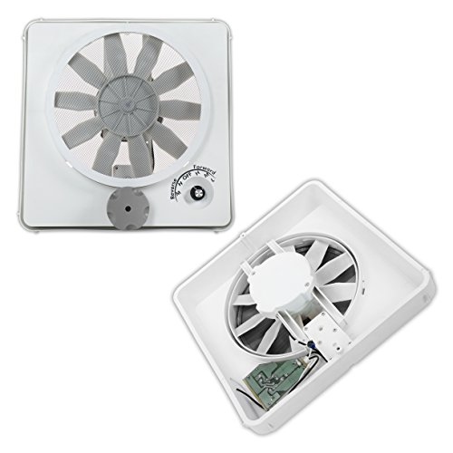 (NEW HENGS VORTEX II WHITE VARIABLE MULTI SPEED 12V 12 VOLT RV CAMPER MOTORHOME CEILING VENT FAN REPLACEMENT UPGRADE KIT MODEL 90046-CR)