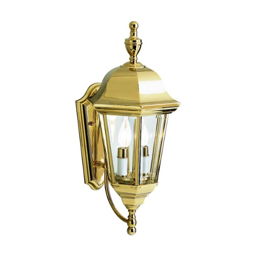 Kichler Polished Brass Wall (Kichler 9439PB Two Light Outdoor Wall Mount)
