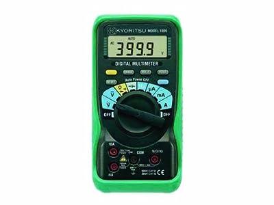 Kyoritsu 1009 Auto-Ranging, Average-Sensing Digital Multimeter, 600V, 10 Amp, 40 Megaohms, 100 Microfarads, 10 Megahertz