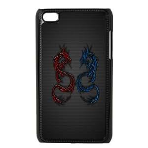 iPod Touch 4 Phone Case Black Dragon tribal WQ5RT7521846