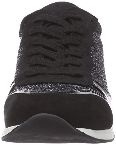La StradaSchwarz/silber glänzender Sneaker - Zapatillas mujer negro - Schwarz (1301 - patent black)