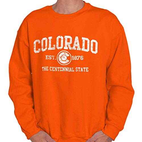 - Colorado State Vintage EST Retro Hometown Fleece Sweatshirt Orange