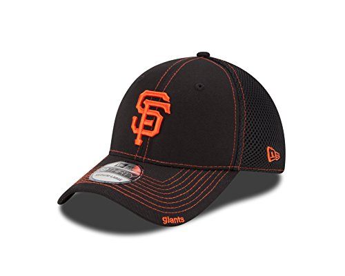 fan products of MLB San Francisco Giants Neo Fitted Baseball Cap, Black, Medium/Large