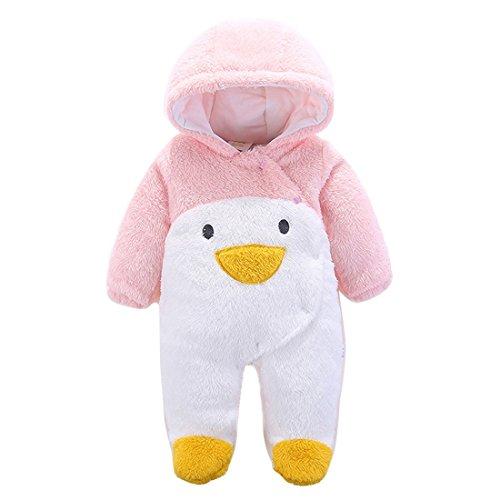 Gaorui Newborn Baby Jumpsuit Outfit Hoody Coat Winter Infant Rompers Toddler Clothing Bodysuit Cartoon Penguin for $<!--$13.88-->
