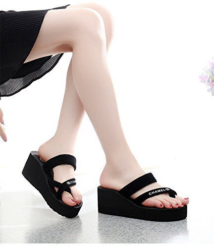 Heel Summer flip Ladies Flops Ladies CBZ Slippers high C EFdXqxcw
