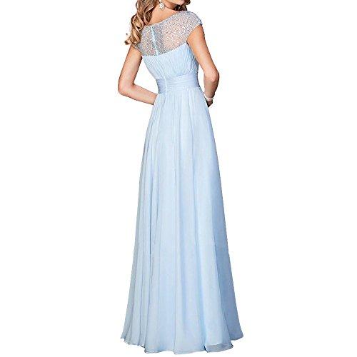 Chiffon Festlichkleider Brautmutterkleider mia Grün Lang Jugendweihe Abschlussballkleider La Elegant Kleider Brau Ballkleider Abendkleider FRwZqUx