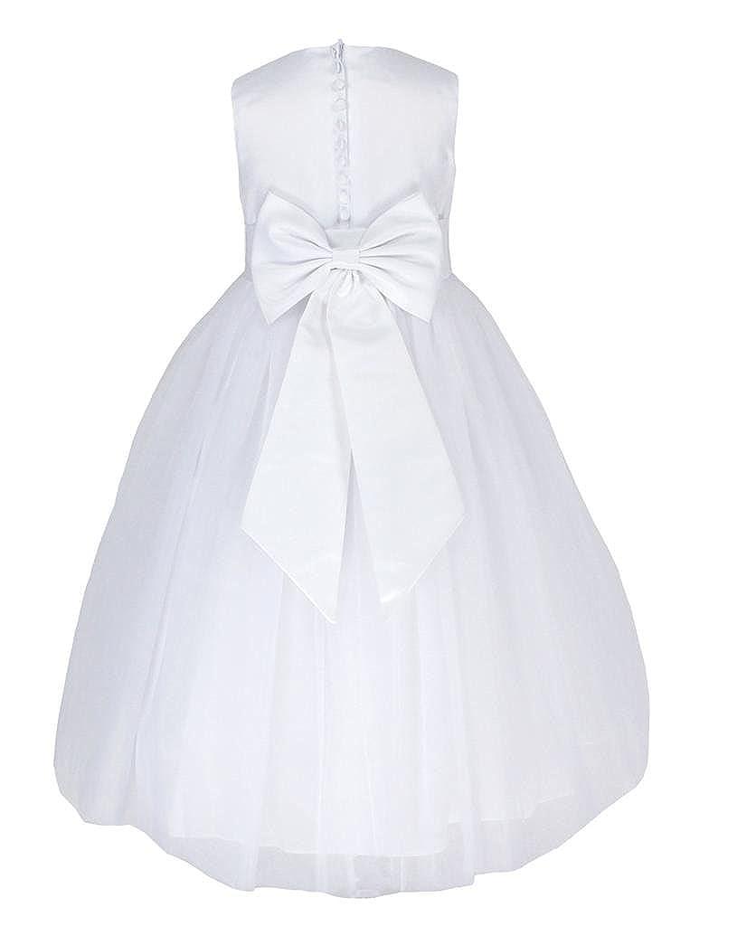 Go2victoria Sin mangas Vestido Satén Tul vestido de fiesta para niña vestido de madrina vestido de ahijada para 2-12 años.: Amazon.es: Ropa y accesorios