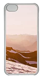 Customized Case landscapes nature snow mountain 18 PC Transparent for Apple iPhone 5C