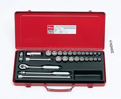 コーケン 3/8(9.5mm)SQ. ソケットセット 27ヶ組 3206AM