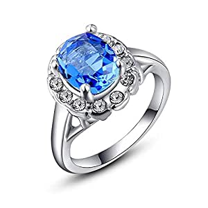 TPS Crystal Sterling Silver Ring For Girls and Women