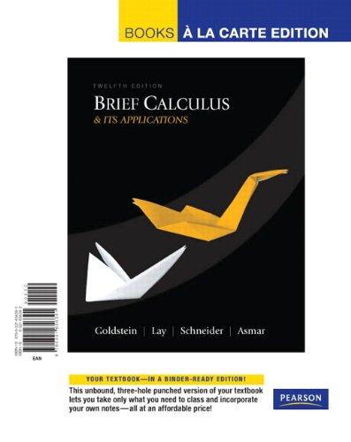 Brief Calculus & Its Applications: Books a La Carte Edition