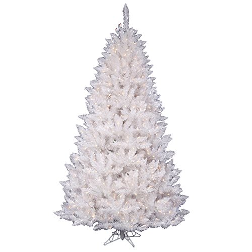 Vickerman 7.5' Sparkle White Spruce Artificial Christmas Tree with 550 Warm White LED Lights