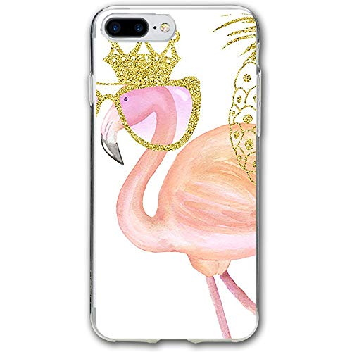 Glitter Clipart Flamingo Resistant Cover Case Compatible iPhone 7 Plus iPhone 6 Plus 5.5IN