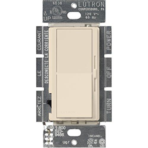Lutron DVCL-253P-LA Diva 250-watt Single Pole/3-Way CFL/LED Dimmer, Light Almond