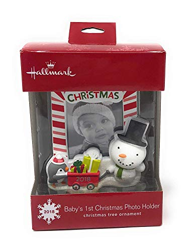 Hallmark Baby's 1st Christmas 2018 Candy Cane Picture Frame Christmas Ornament