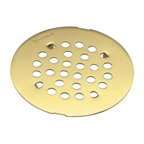 - Moen 101663PMOENF Kingsley 4-1/4-Inch Snap-In Shower Drain Cover, Polished Brass