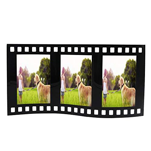 YAODHAOD Filmstrip Wave Frames,Scene 3 Film Strip Picture Frame (Three 5'' 3.5'') ()