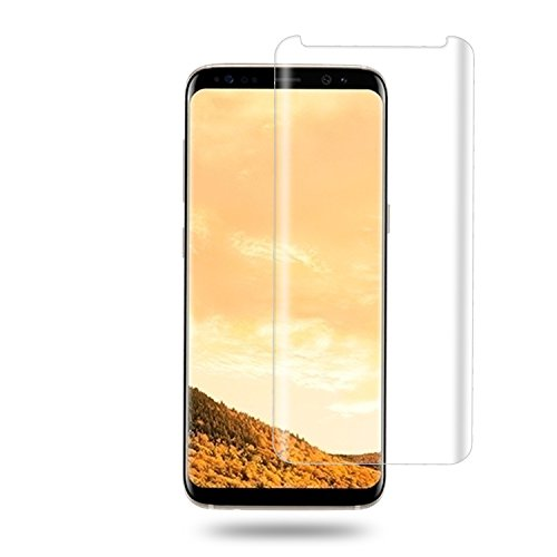 Galaxy S8 Plus Tempered Glass Screen Protector, Auideas 9H Hardness [Ultra Clear] No Foam [Scratch] [for] Samusung Galaxy S8 Plus Clear