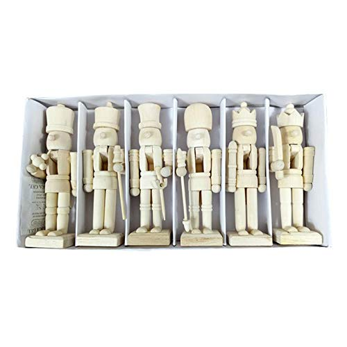 Figurines Miniatures - 12cm Cute Nutcracker Puppet White Walnut Soldier Shaped Ornaments Crafts Birthday Gift Christmas - People Figurines Miniatures Figurines Miniatures Soldier Nutcracker W ()