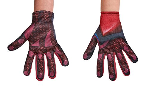 Kids Power Rangers Costumes (Disguise Red Power Rangers Movie Child Gloves, One Size)