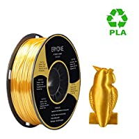 PLA Filament 1.75mm Silk Gold, ERYONE Silky Shiny Filament PLA 1.75mm, 3D Printing Filament PLA for 3D Printer and 3D Pen, 1kg 1 Spool by ERYONE