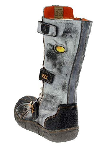 Boots Jeans Schwarz Stiefel Damen TMA 7086 Winterstiefel Gefüttert Schuhe ETAvqw