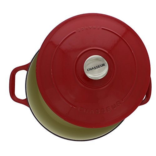 Chasseur 7.1-quart Red French Enameled Cast Iron Round Dutch Oven