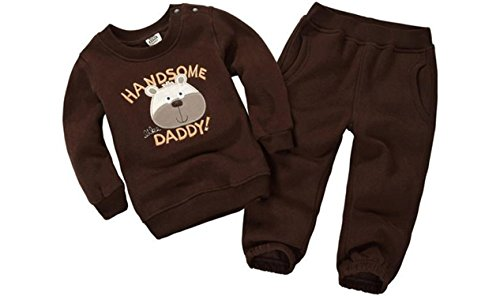 Agnes Brown Costume (ODFAPP Adorable 2016 Spring&Autumn Children Boy&Girl Clothing Set Baby Girls Casual Sports Animal Pattern Costume Kids Clothing Set Suit 15-333 Brown3T Cool)
