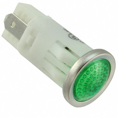 VCC 1092 Series LED Panel Mount Indicator with Tab Terminals and Semi Dome Lens, 0.500-Inch/12.7mm Diameter, 125 Volt, Green ()