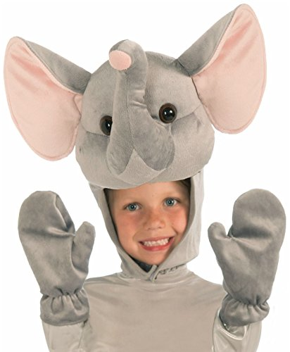 Forum Elephant Hood & Gloves Child Costume Set, Gray (Elephant Kids Costume)