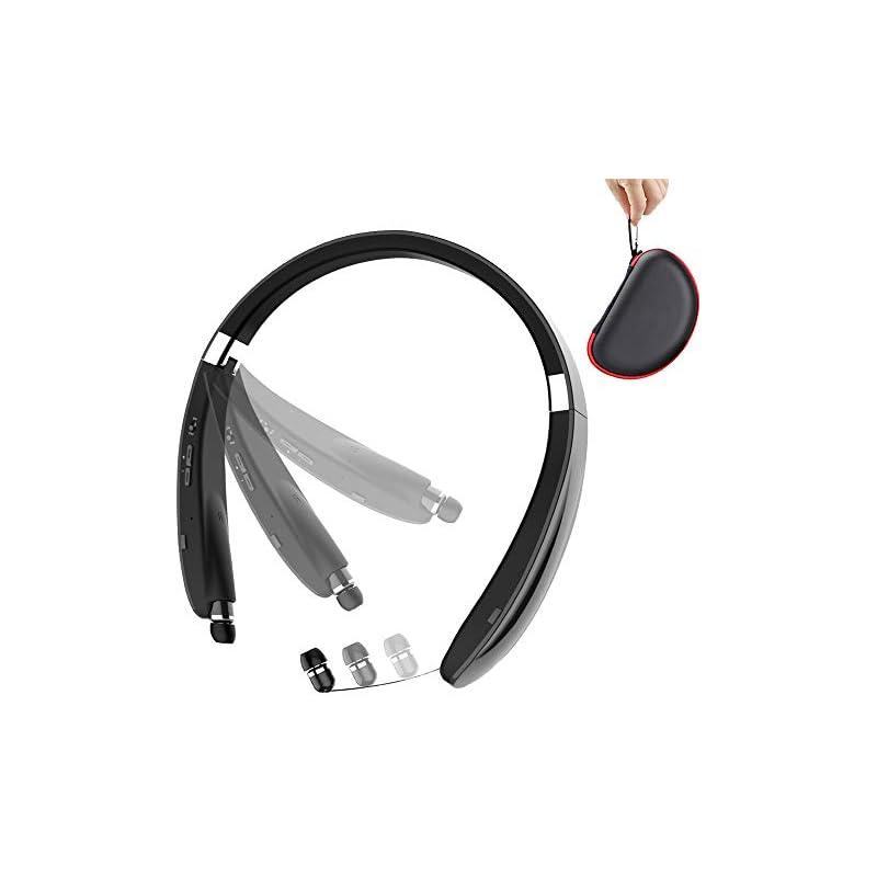 [2018 Newest] Foldable Bluetooth Headset