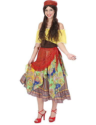 Ladies Gypsy Fortune Teller Fair Circus Festival Halloween Costume Large ()