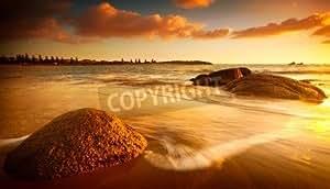 Gorgeous Sunrise on a South Australian Beach (12986409), lino, 140 x 80 cm