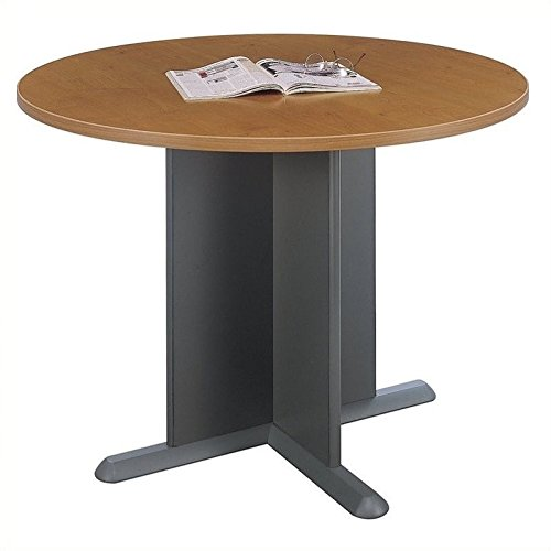 Bush Business Furniture 42''W Round Conference Table, Natural Cherry/Graphite Gray, Standard Delivery by Bush Business Furniture