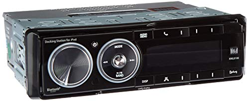 (Dual Electronics XML8100 AM/FM Car Dashboard Mechless Receiver with iPod Docking Station, BT Ready, SWI, iPlug, and Remote (Black))