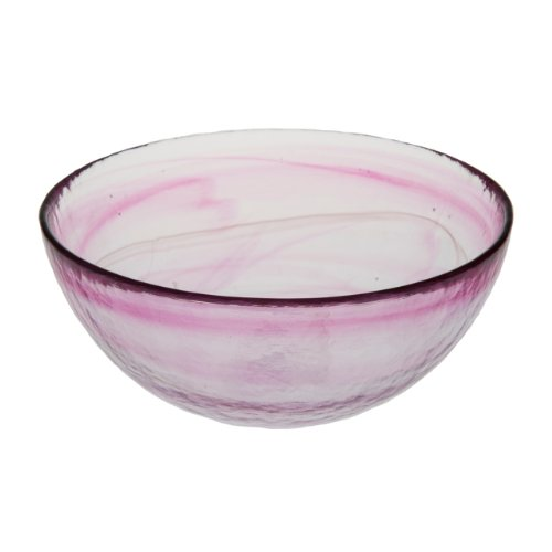 Abigails Clear Stone Age Bowl, Hot Pink