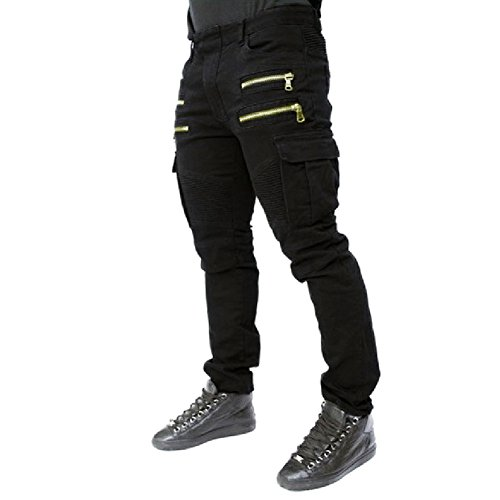 Mens Punk Hipster Skinny Straight Denim Biker Jeans Pants Trousers Street - Fashion Punk Hipster