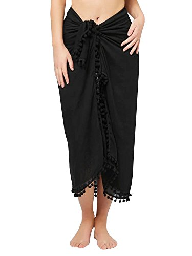Striped Womens Skirt Suit (Beautife Womens Sarong Pareo Swimwear Tassel Striped Beach Swimsuit Wrap Cover Up Skirt)