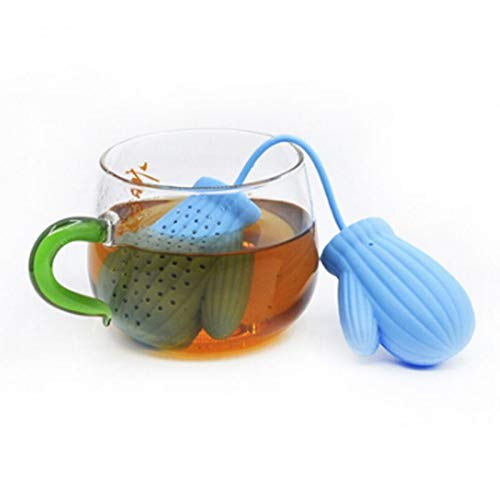 Laz-Tipa - 1 PC Christmas Gloves Tea Strainer Infusers Silicone Loose Tea Leaf Strainer Filter Diffuser Tea Tools IC890716